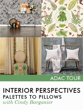 Promo Image for Interior Perspectives: a Tour of Palettes to Pillows with Cindy Barganier